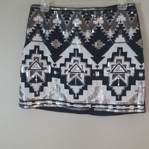 🧡3 for $20! Express Aztec Black Sequin size small